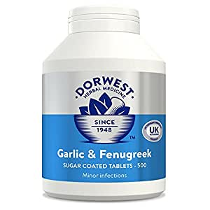 Dorwest Herbs Garlic and Fenugreek Tablets for Dogs and Cats 500 Tablets
