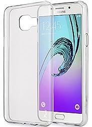 Galaxy A7 Case, Tauri [Scratch Resistant] Premium Ultra Slim Thin Clear Flexible Soft TPU Gel Skin Protective Case Cover for Samsung Galaxy A7 (2016) - Clear
