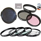 Big Mike'S 77Mm Multi-Coated 7 Piece Filter Set Includes 3 Pc Filter Kit (Uv-Cpl-Fld-) And 4 Pc Close Up Filter Set (+1+2+4+10) For Canon Ef 70-200Mm F/2.8L Is Usm Telephoto Zoom Lens + Lens Cap + Cap Keeper + Microfiber Cleaning Cloth + Lcd Screen Prote