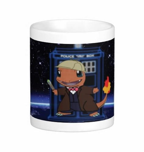 Pair Of Charmander Doctor Who 15 Ounce Coffee Mugs - Custom Coffee / Tea Cups - Dishwasher And Microwave Safe