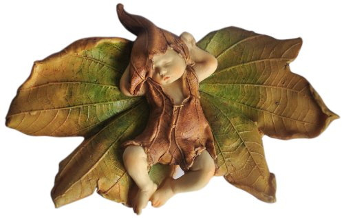 Top Collection Enchanted Story Fairy Garden Sleeping Fairy Baby Outdoor Statue, 3.75 by 5.75-Inch