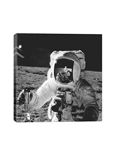 Retro Images Astronaut On The Moon Archive Gallery-Wrapped Canvas Print