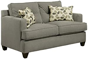 Enitial Lab Microfiber Loveseat 61 Inch Good Sofas