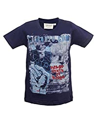 Tonyboy Boy's Cotton Blue Short Sleeved T-shirt
