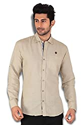 Kivon Men's Solid Slim Fit Casual Shirt