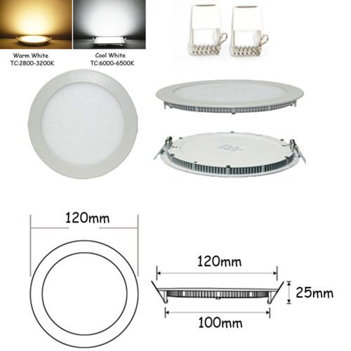 Great Deal Down Light Es 6W Cree Led Panel Light Round Ceiling Lamp Warm White Bulb