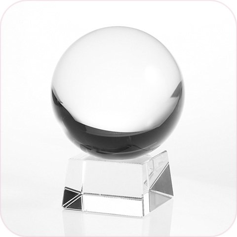 Amlong Crystal Clear Crystal Ball 110mm (4.2 in.) Including Crystal Stand and Gift Package