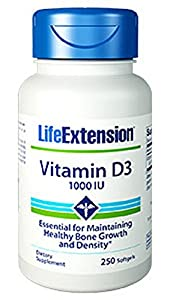 Vitamin D3 - 1000 IU - 250 Capsules