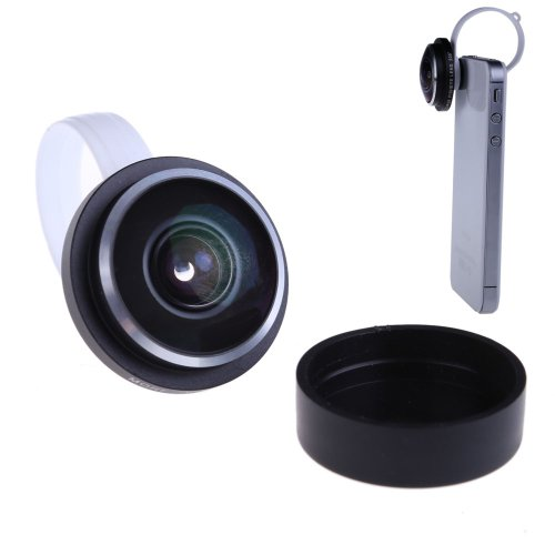 Vktech New Universal Detachable Circle Clip 235 Degree Fisheye Lens For Phones