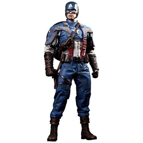 Captain America The First Avenger Hot Toys Movie Masterpiece 1/6 Scale Collectible Figure Captain America by Hot Toys [병행수입품]-