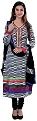 Renisha Fashion Women's Cotton Unstitched Salwar Suit (White)