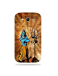 alDivo Premium Quality Printed Mobile Back Cover For Samsung Galaxy Grand 3 / Samsung Galaxy Grand 3 Printed Lord Shiva Mobile Case / Cover (MKD074)