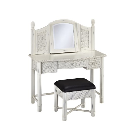 Home Styles Marco Island Vanity And Bench With White Finish front-273830