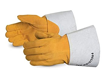 Superior 335DTIG Precision Arc Split Deerskin Leather TIG Welder Glove, Work, 1.1 mil Thickness, Medium (Pack of 1 Dozen)