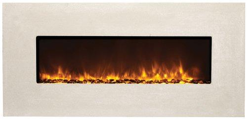 """Amantii Artisan 51"""" Builtn Electric Fireplace Moderno Tuscan Cream Bltin5124Modernotuscancr"""
