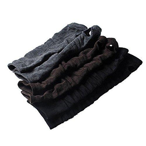viskey-modern-ladies-medium-arm-fingerless-warmer-gloves-mittenpure-black