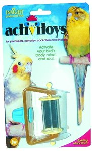 Cheap JW Pet Company Insight Rotating Mirror Drums Small Bird Toys Assorted Colors (B000CMHX0G)
