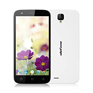 Ulefone U007 pro 5.0 inch Android 6.0 MT6735 1.3GHz Quad Core Cellphone 4G Dual SIM Mobile Phone 1G RAM + 8G ROM HD 2.0 MP Front Camera + 8.0 MP Back Camera Smartphone (White)
