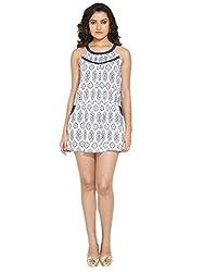 Remanika Women's Empire Dress (SST-FRENZY1_Blue_X-S)