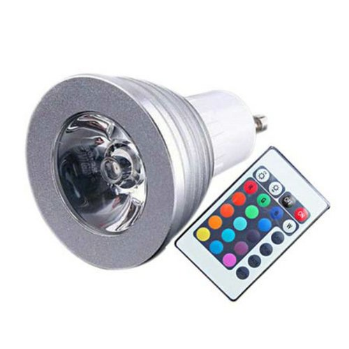 Green House® 4W Gu10 Rgb Led Bulb Light 16 Color Rgb Changing Lamp Spotlight 100-245Vac With Remote Control For Home Living Room Decoration Etc.