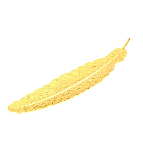 Prudance Classical Delicacy Feather Metal Bookmark - Gloden