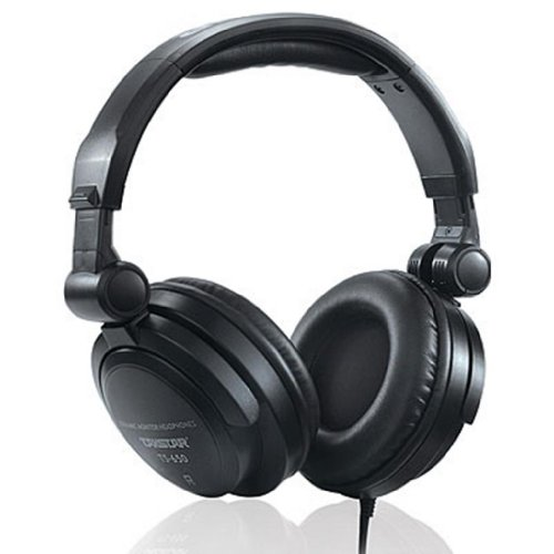 Blue Melody Best Dj Studio Monitor Monitoring Pro Professional Mtv Stereo Wired Long Cord Student Style Headphones With Ear Muffs For Music Ts650 Black