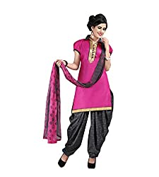 Ethnic Chic pink colored cotton suit.