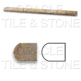 Scabos Travertine Honed 1/2 X 12 Pencil Liner Trim Molding
