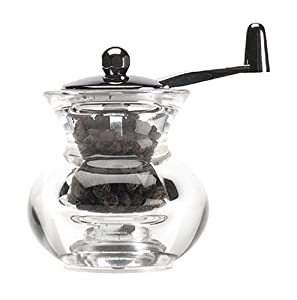 T&G Cauldron Pepper Mill - Acrylic with Crank Handle Size 90mm