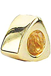 Zable Sterling Silver Yellow Color Plated Triangle Bead