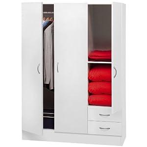 ... ante 2 cassetti bianco AR2034 L120h170p50: Amazon.it: Casa e cucina