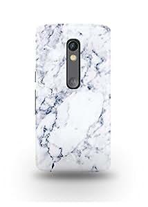 White & Grey Marble Moto X Play Case