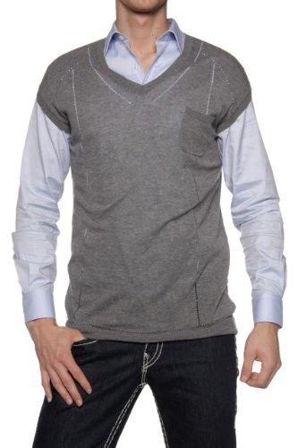 Kris Van Assche Kris Vanassche Men's Slipover, Color: Grey, Size: L