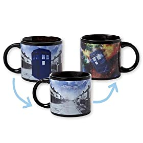 Unemployed Philosopher's Guild Doctor Who's Disappearing Tardis Mug, 12 oz Capacity