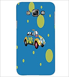 PrintDhaba Floral Car D-5575 Back Case Cover for SAMSUNG GALAXY E7 (Multi-Coloured)