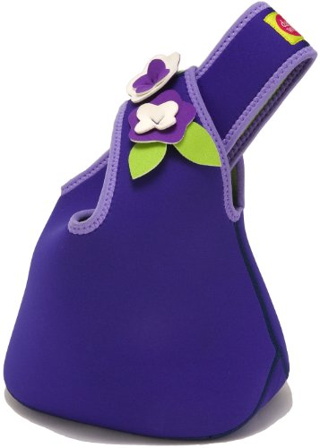 Dabbawalla Bags Flower Girls' Tweens' & Womens' Insulated & Eco-Friendly Lunch Purse Tote Purple - 1