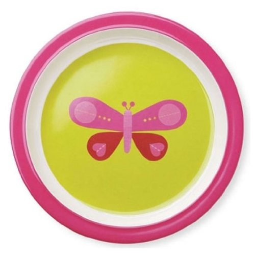 Crocodile Creek Pink Butterfly Plate - 1