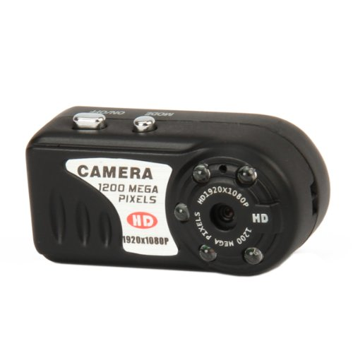 Allske 12Mp 5-Led Ir Night Vision Aluminum Alloy Mini Digital Camcorder - Black