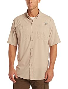 Columbia Men's Tamiami II Short Sleeve Shirt (Tall), Fossil, 2X