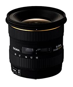 Sigma 10 - 20 / 4,0 - 5,6 DC /EX/HSM - Objetivo para Canon (distancia focal 10-20mm, apertura f/5.6) color negro