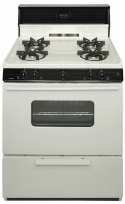 Premier-SMK240TP-Biscuit-30-Electronic-Spark-Gas-Range-with-39-Cu-Ft-Capacity-Four-Sealed-Burners-Heavy-Duty-Continuous-Cast-Iron-Grates-and-10-Tempered-Glass-Backguard-with-Electronic