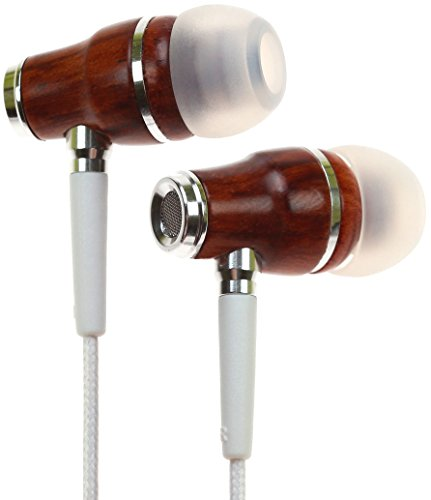 Symphonized NRG Premium Genuine Wood In-ear Noise-isolating Headphones with Mic (White)