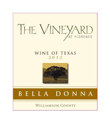 2012 The Vineyard At Florence Bella Donna White 375 Ml