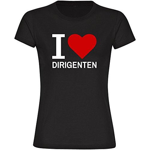 T-Shirt-Classic-I-Love-Dirigenten-schwarz-Damen-Gr-S-bis-2XL