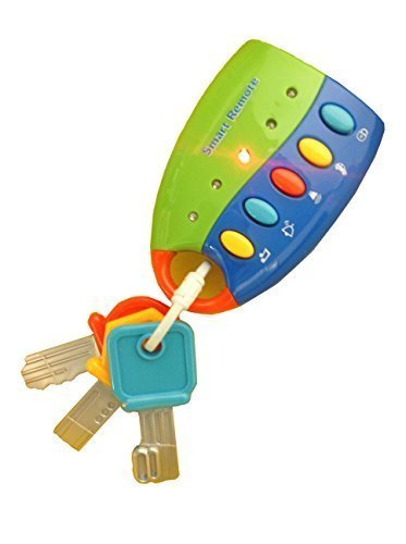 Flash Music Smart Remote Car Key Baby Toy - 1