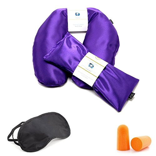 Neck Wrap & Lavender Eye Pillow Womens Gift Set - Migraine, Stress & Anxiety Relief - #1 Stress Relief Gifts - Made In The USA, Lifetime Warranty! (Royal Purple)