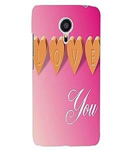 ColourCraft Love Quote Design Back Case Cover for MEIZU MX5