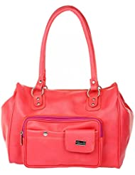 JG Shoppe Pink Artificial Leather Casual Women Hand-held Bag