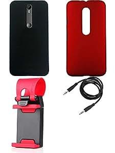 NIROSHA Cover Case Mobile Holder for Moto G3 3rd Gen - Combo