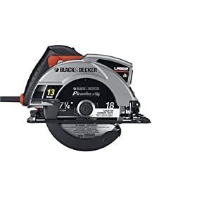 Black & Decker CS1030L 13 Amp 7-1/4-Inch Laser Circular Saw with Soft Grips
